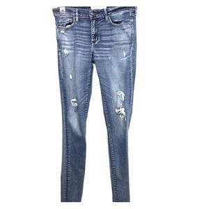 Abercrombie & Fitch Distressed super skinny jeans